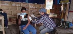 Receiving vaccination