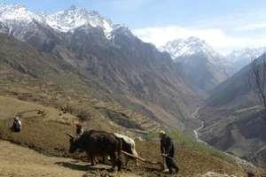 The Karnali river from Simikot.