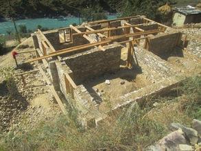 Sarkegad under construction