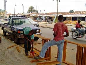 New carpentry business with their first job