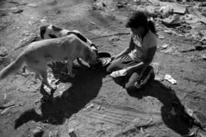 Children at the dump