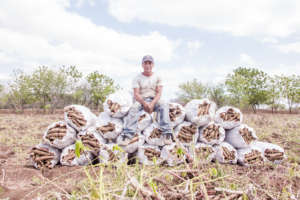 A yucca farmer from Nicaragua