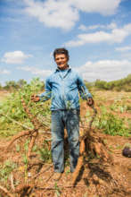A yucca farmer in Nicaragua