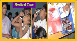 Medical care.
