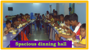 Spacious Dinning hall.