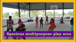 Spacious multipurpose play area.