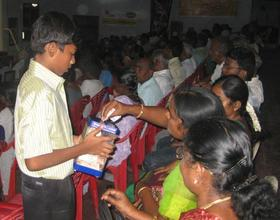 HOMEchildren collect donationthrough programs