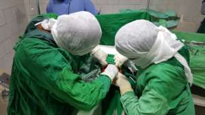 Our doctors performing the surgery