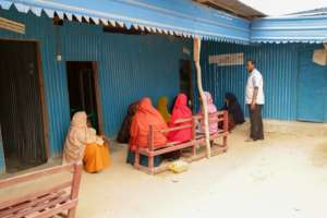 Local women await their appointments at our clinic