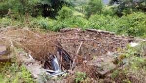 The school toilet before Orbis' intervention