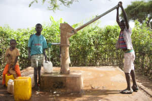 Water pump provides clean water