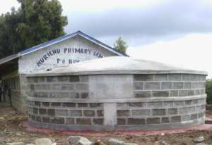 Completed water tank