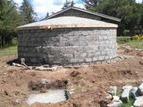Near complete rainwater harvesting tank