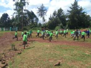 Kwanjora Primary School pupils