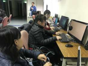 Math group courses for visually impaired students