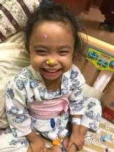 Little Brielle recoverin in Taiwan Hospital