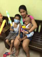 Jedi Knight cancer patient with Mom, House of Hope