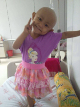 Jhian, age 3, undergoing treatment , House of Hope