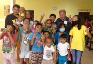 Jhian and friends at House of Hope, July 2017