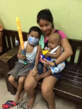 Mom with children at House of Hope