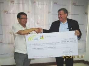 AAI delivers PCS a GlobalGiving donation