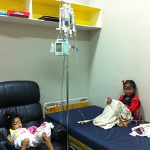 October 2014:  Pauline, age 9,  receives care
