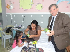 Vitamins presented to Pauline from GG donors
