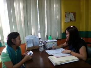 patient screening at Phil Cancer Society