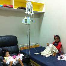 2014 Pauline and Krishna receive monthly treatment