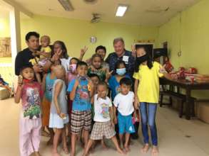 AAI Director Santoli with Children @ House of Hope