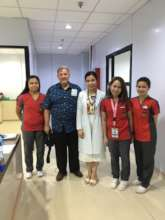 AAI Pres. Santoli with House of Hope Medical Staff