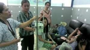 Treatment at NIH hospital in Manila