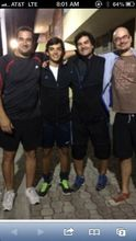 Con Dani, Richi y Damian