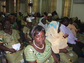 Women farmers participating in meeting