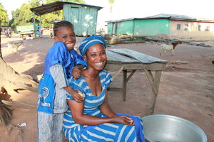 Ghanaian mother and child