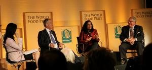 Ritu Sharma with Tony Blair and Howard Buffett