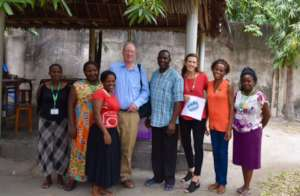 Bob (fourth from left) visiting The Mabinti Centre