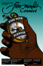 Cover art for the Free Minds Connect magazine