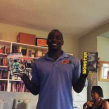 Free Minds member Gary with his favorite books