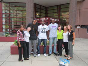 Etan Thomas with Free Minds staff and friends