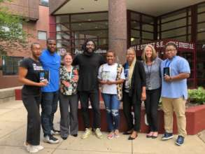 Author Jason Reynolds (center) visits DC Jail