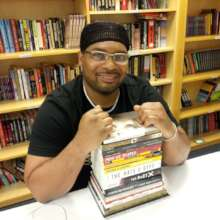 Jameon with some favorite books