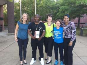 Tony Lewis Jr. and Free Minds staff visit DC Jail