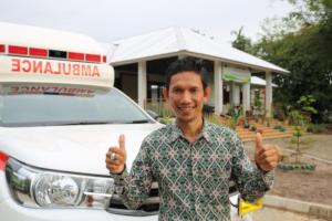 Our ambulance driver Pak Romi!