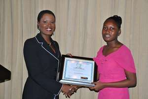 Trevisa Receives her Paul Bogle Scholarship - 2010