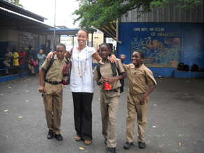 Ms. McLennon at CEF Primary School Tour in 2012
