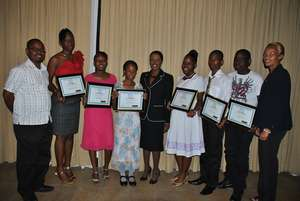 Ms. McLennon with Scholarship Recipients in 2010