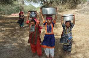 Girls Fetching Drinking water