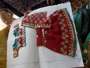 Sewing by new incoming girls