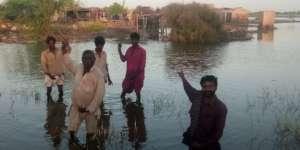 children showing village